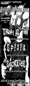 """16 juin 2006 Strong As Ten, Asfixia, Socrates, Jubilé à Montbrison """"Salle des Fêtes"""""""