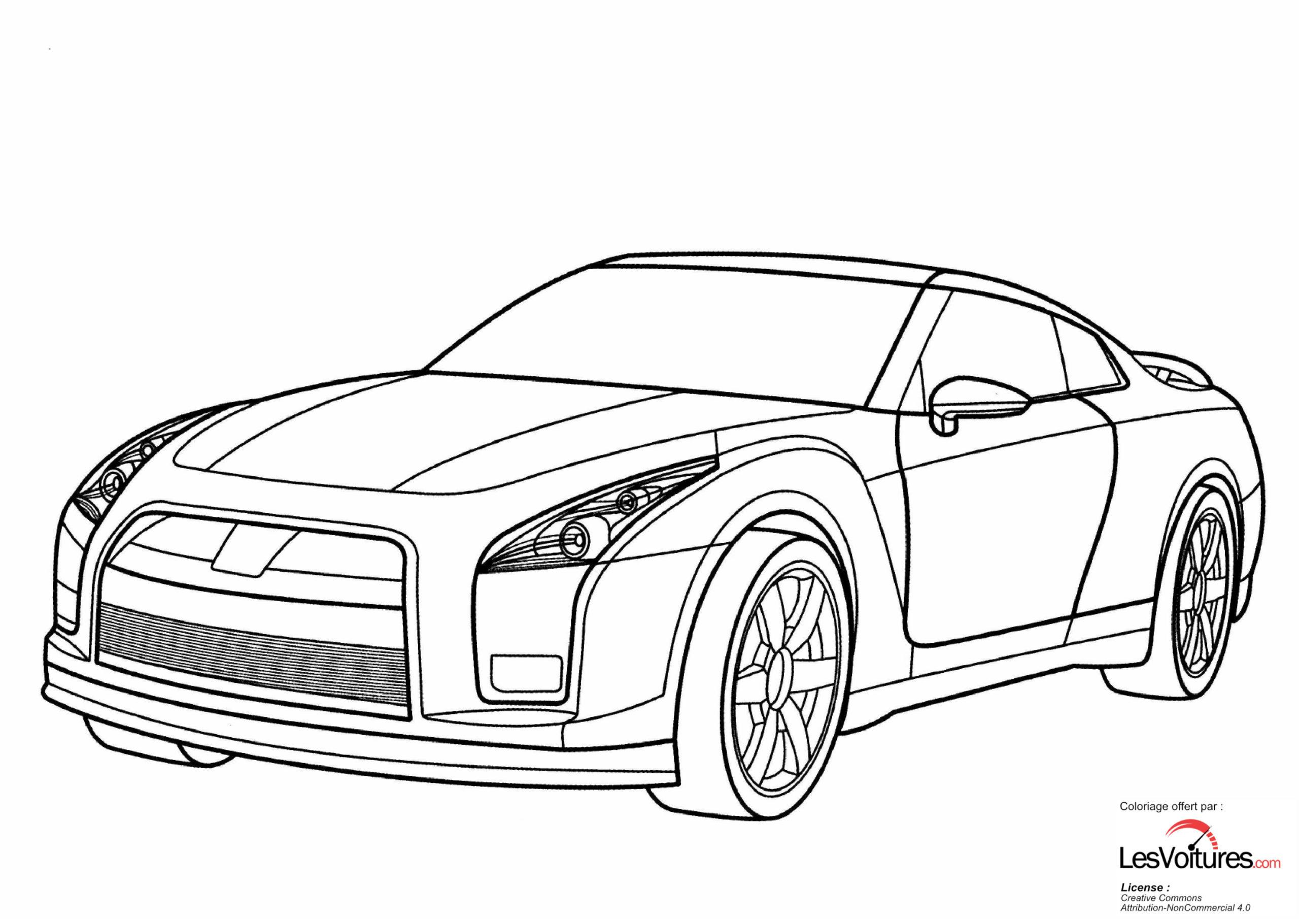 Nissan Gt R Coloriage Voiture
