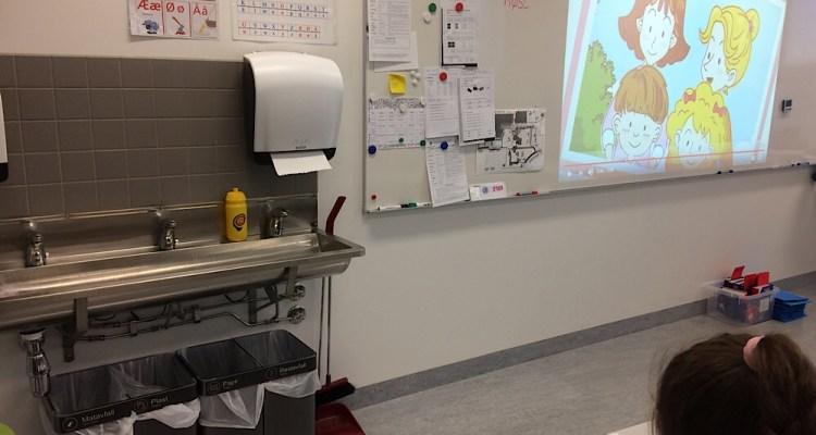 Les classes sont équipées de lave mains
