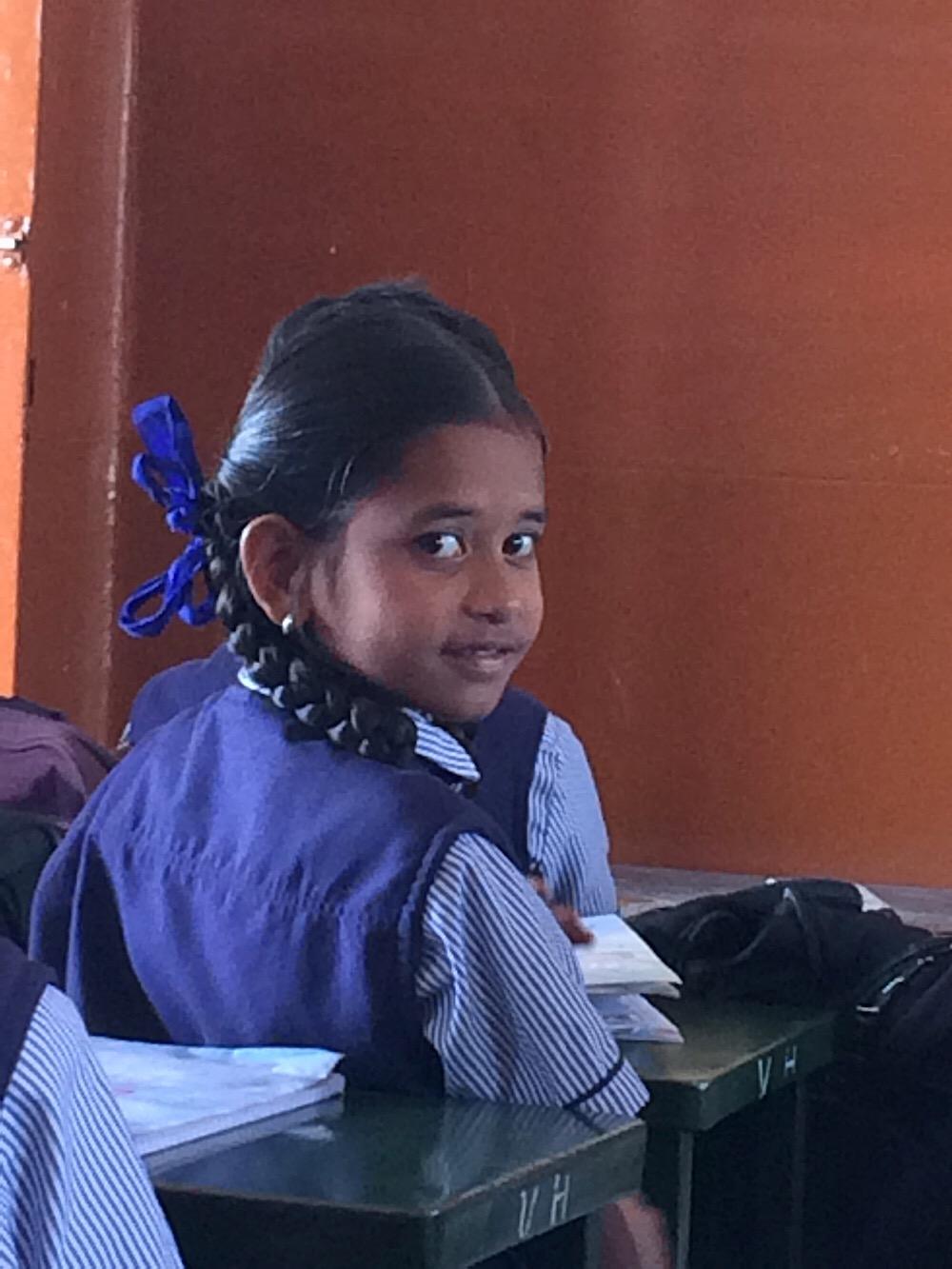Les écoliers en Inde