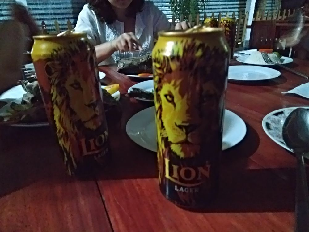 Manger au Sri Lanka - Lion Beer
