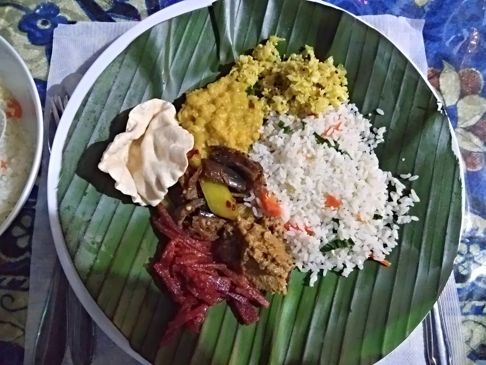Manger au Sri Lanka - curry