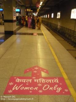 Le métro où les hommes et les femmes sont séparés (ce qui n'est pas plus mal)