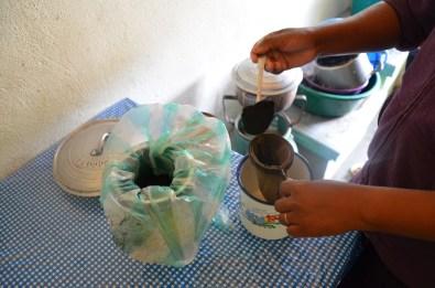 La préparation du café
