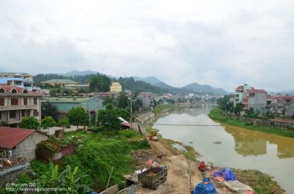 vu de mon hôtel sur la rivière