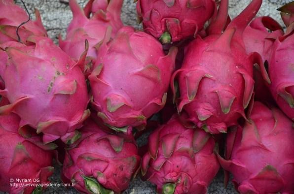 Les fruits du dragon. Je n'en ai pas goûté et je le regrette!