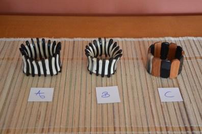 Bracelets élastique corne de zébu, photo E