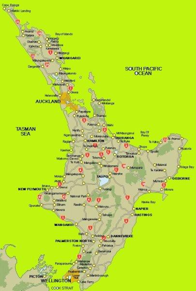 île du Nord - Nlle Zélande