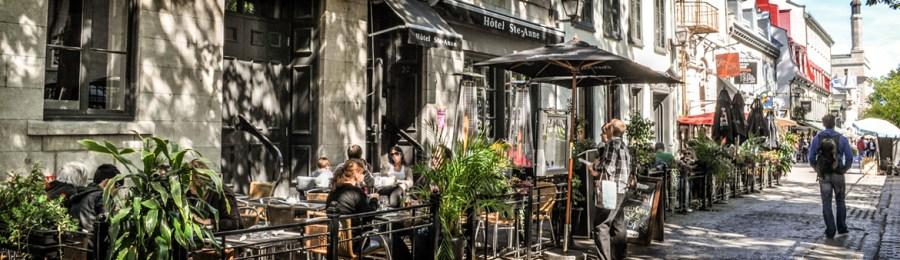 Le restaurant Ste Anne dans le vieux Québec