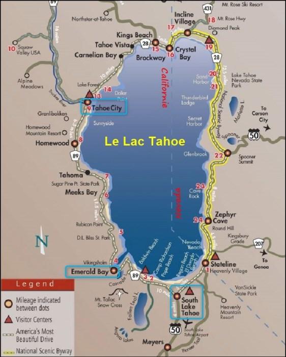 Le lac Tahoe - Californie Nevada