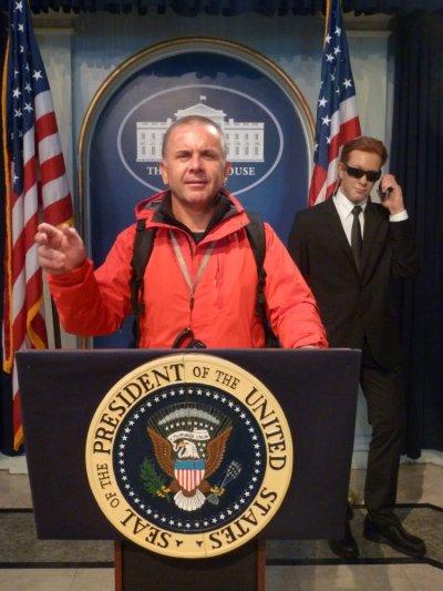 Je suis le président des Etats Unis