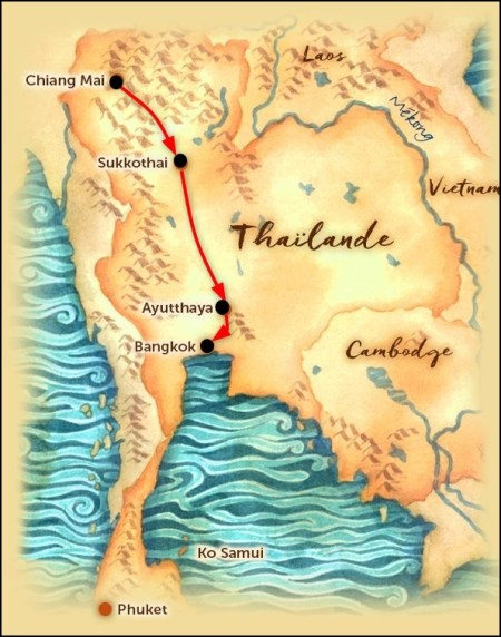 Carte de Thaïlande