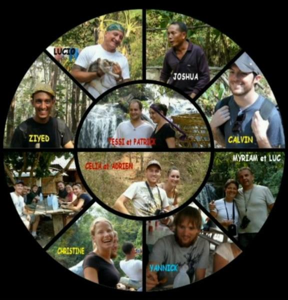 Le groupe du trek en Thaîlande (2013)