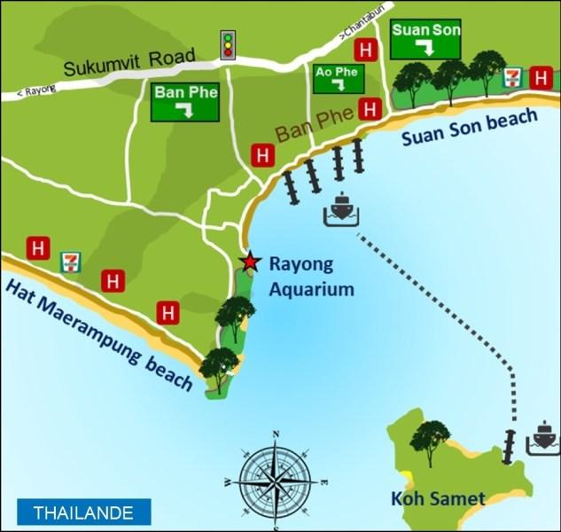Le port de Ban Phe et l'île de Koh Samet - Thaïlande