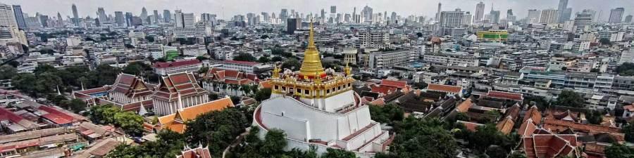 Vue de Bangkok depuis le Wat Saket