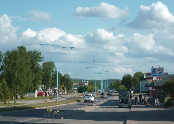 Le centre ville d'Ivalo - Finlande
