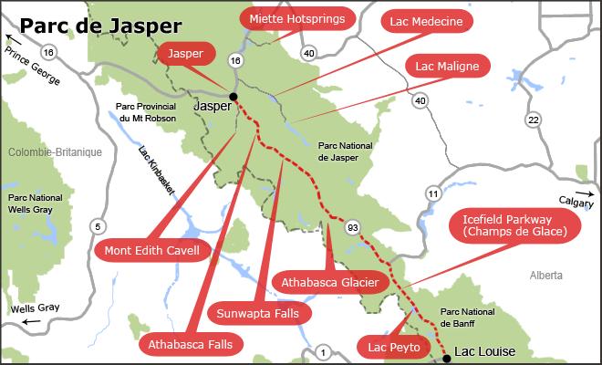 La route des glaciers - Ouest Canadien