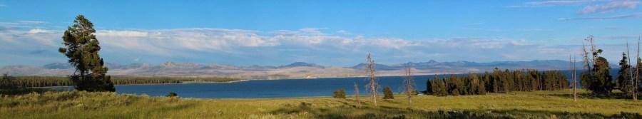 Le lac dans le parc national de Yellowstone - Wyoming (USA)
