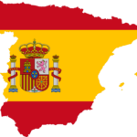 Carte aux couleurs de l'Espagne