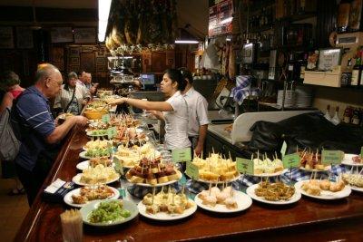 St Sébastien - les bars à Tapas