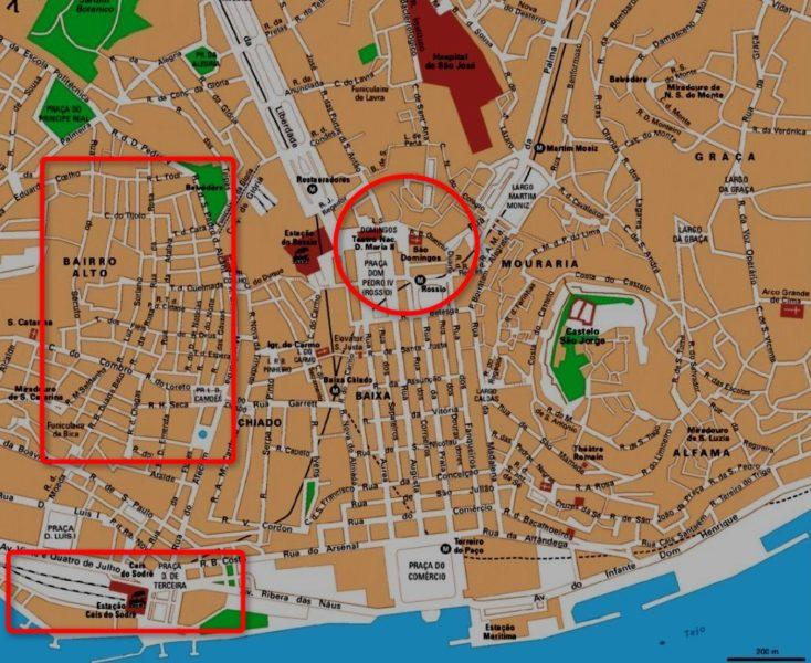 Quartiers Rossio - Bairo Alto - Madagoa - Cais Do Sodré