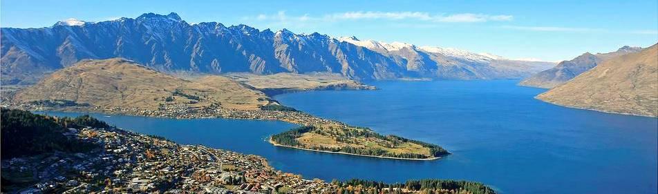 Queenstown et le lac Wakatipu (Nlle Zélande)