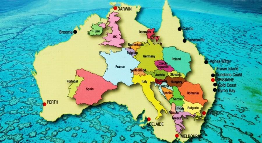 Carte Australie Europe - myriametluc.uniterre.com