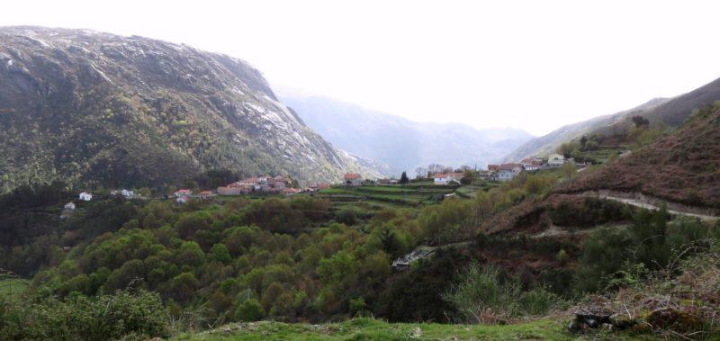paysage sur la route de Notre Dame de Peneda