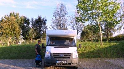 Coimbra - Aire de camping-car sur les bords du Mondego