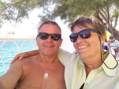 A la terrasse de la plage de Seget Vranjica