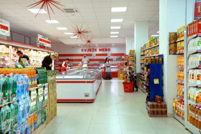 Supermarché à Podgorica - Monténégro
