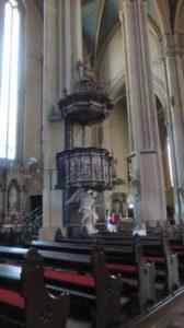 La chaire dans la cathédrale de Zagreb