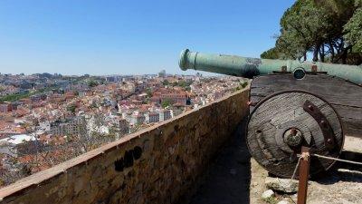 Vue sur Lisbonne depuis le Castelo Sao Jorge