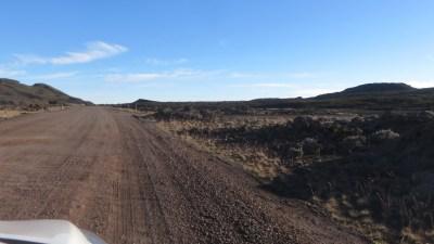La piste de terre à l'approche du Pas de Bellecombe