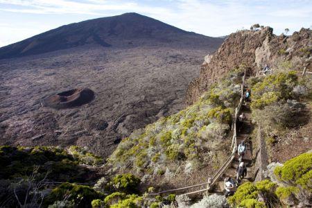 La descente sur l'enclos Fouqué - Réunion