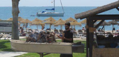 Feu de bois en bord de mer - Malaga
