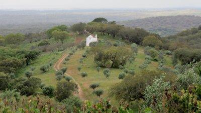 La campagne depuis la forteresse d'Evoramonte