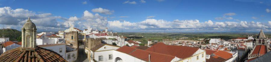 Vue sue Elvas et la campagne