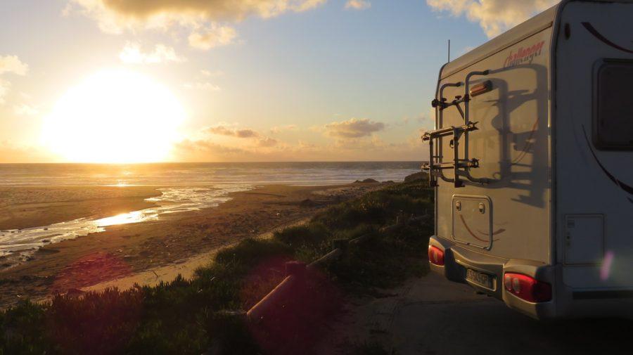 Coucher de soleil sur la plage de Cordoama
