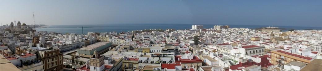 Vue sur Cadix depuis la tour Tavira