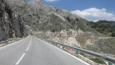 Sur la route entre Ronda et Setenil