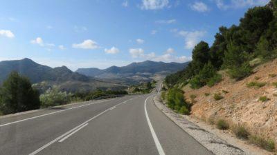 Sur la route entre Ubeda et Grenade