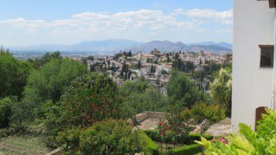 Les collines autour de l'Alhambra