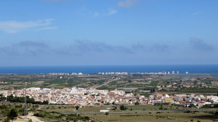 Belle vue sur les villages côtiers
