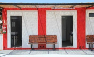 Toilettes de l'aire de camping-car de Cabo de Gata