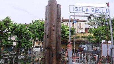 L'embarcadère d'Isola Bella (îles Borromées)