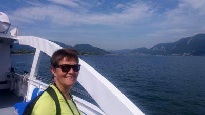 Sur le bateau pour Monte Isola
