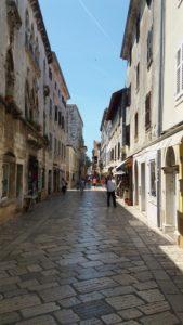 Les ruelles pavées de Porec