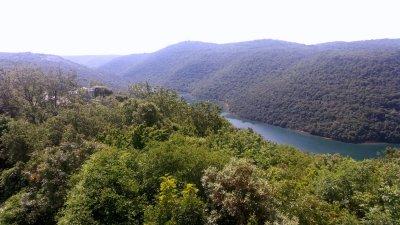 La ria de Lim (Limski kanal) entre Vrsar et Rovinj