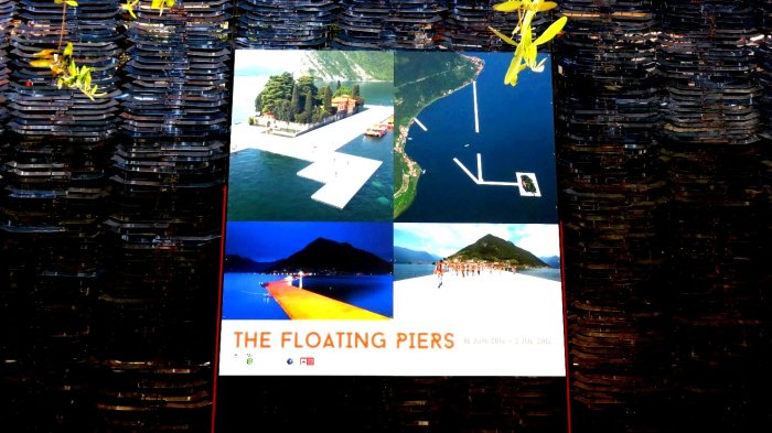 The Floating Piers sur le lac d'Iseo